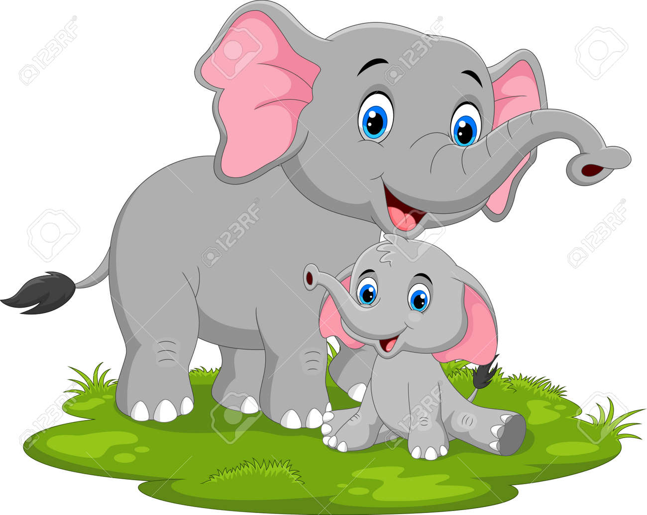 Happy elephant cartoon - 165285569