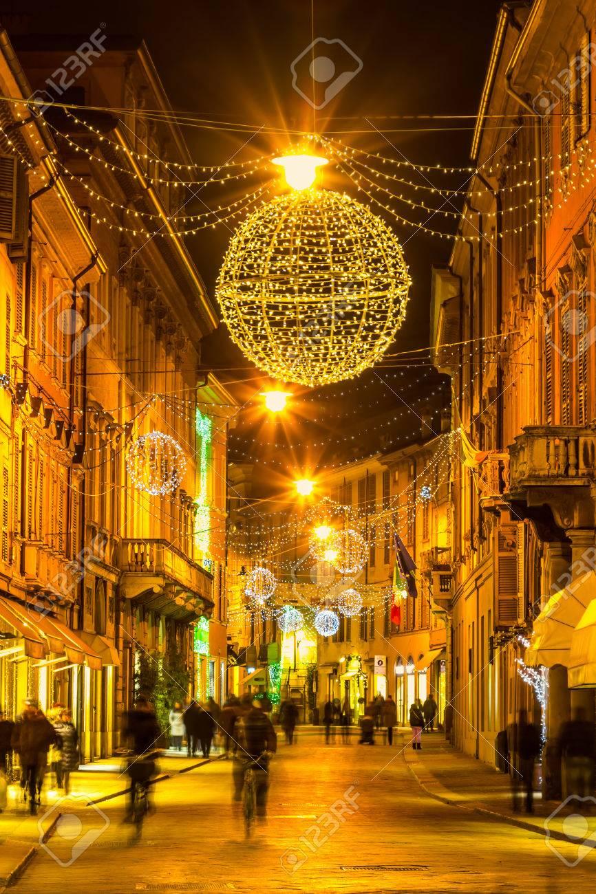 Alte Nachtstraße In Reggio Emilia Emilia Romagna Italien