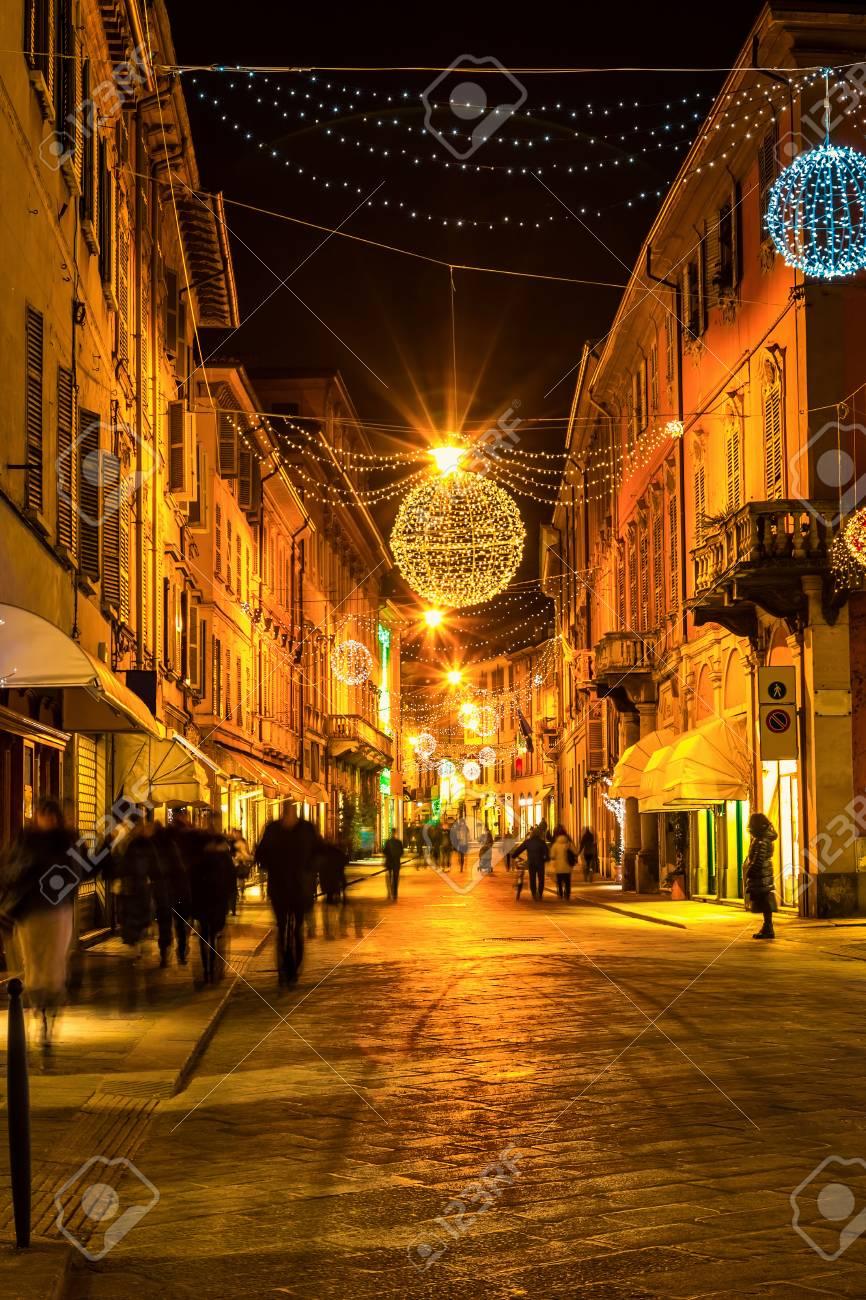 Alte Nachtstraße In Reggio Emilia Emilia Romagna Italien Ferien