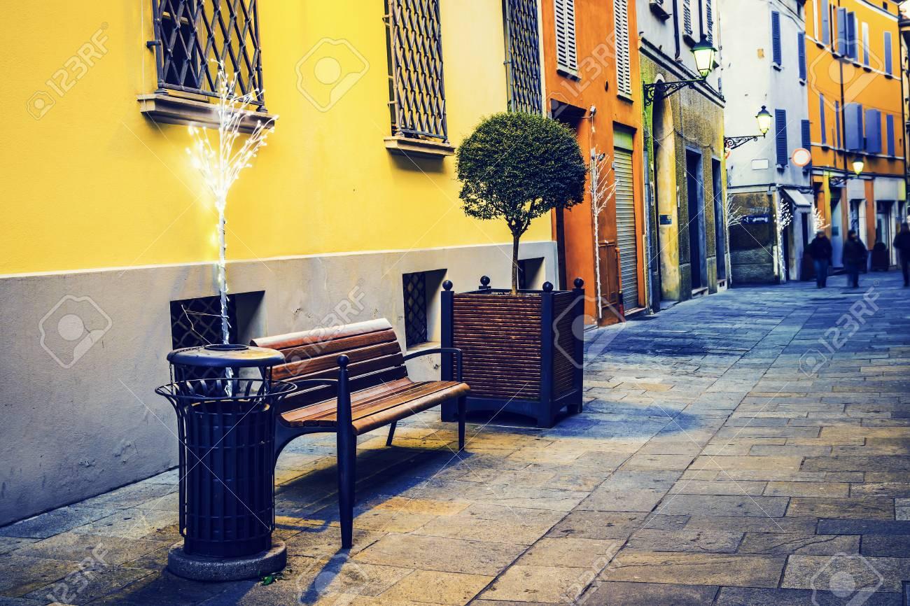 Straße In Reggio Emilia Emilia Romagna Italien Lizenzfreie Fotos