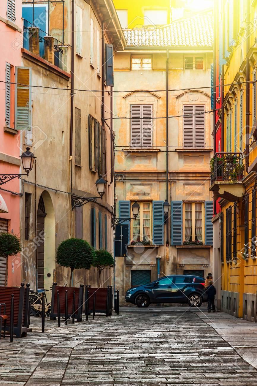 Alte Straße In Reggio Emilia Emilia Romagna Italien Lizenzfreie