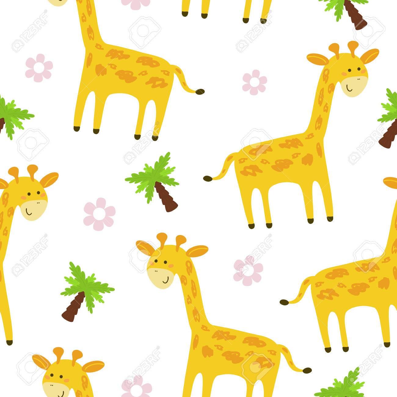cute giraffe pattern print for kids printable templates royalty