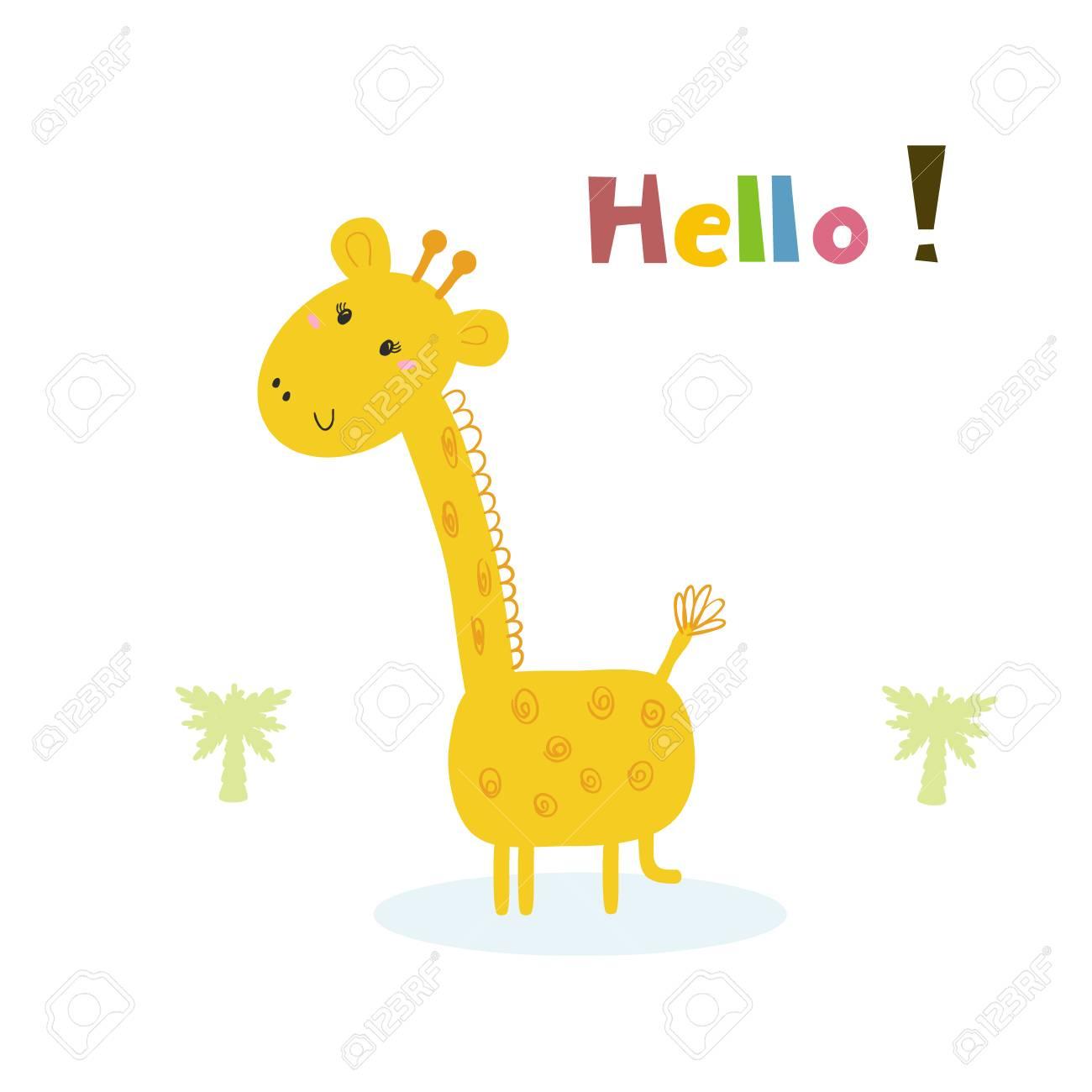 cute giraffe print for kids printable templates royalty free