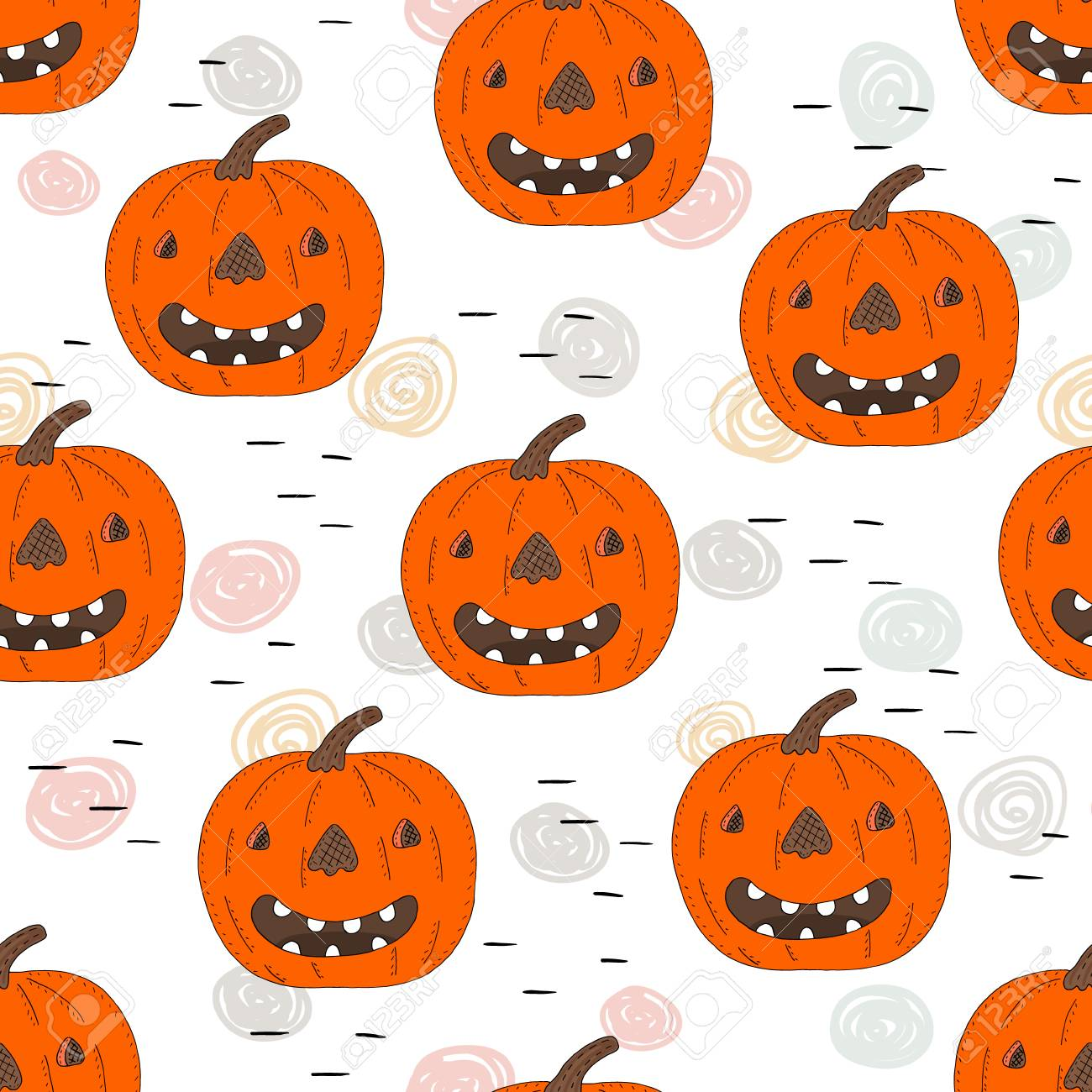 Happy Halloween Print With Pumpkin Printable Templates Royalty