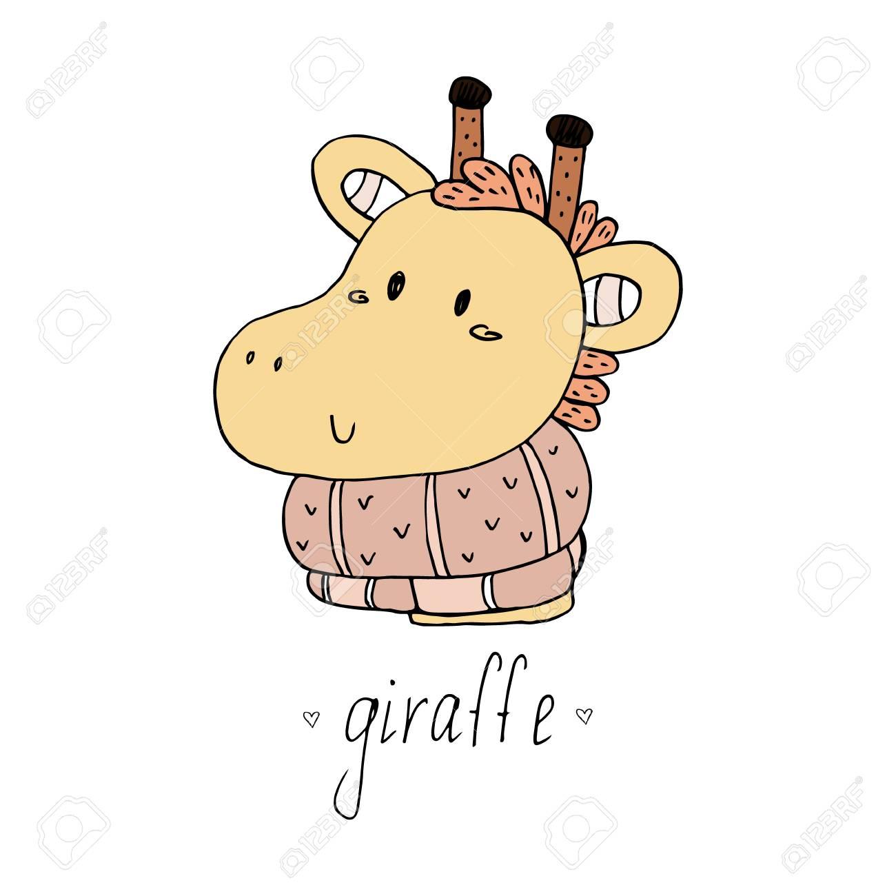 Netter Giraffendruck Für Kinder. Druckbare Vorlagen. Lizenzfrei ...