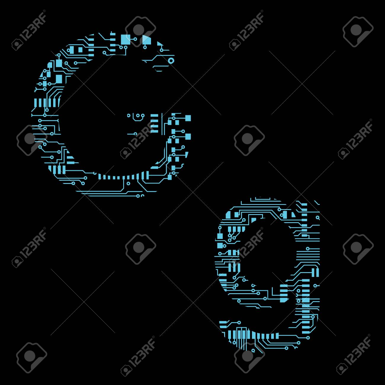 Incredible Circuit Board Alphabet Letter G Vector Illustration Royalty Free Wiring 101 Breceaxxcnl