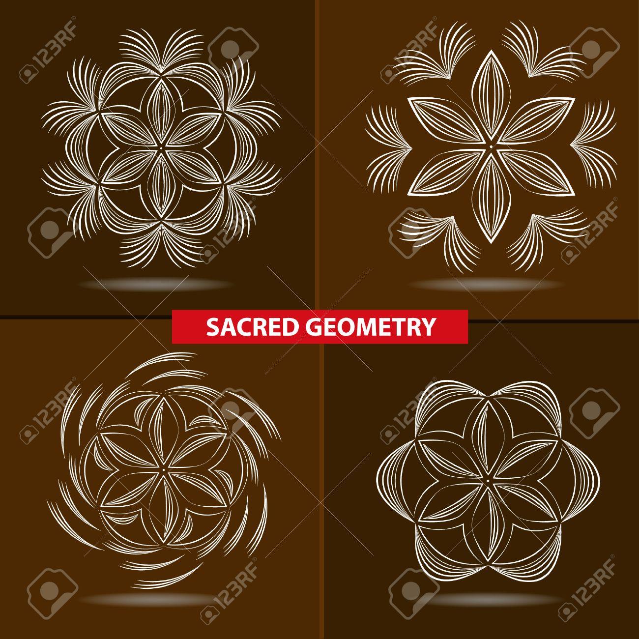 Symboles Sacres Et La Geometrie Pour Tatouer Fleur De Vie Clip Art