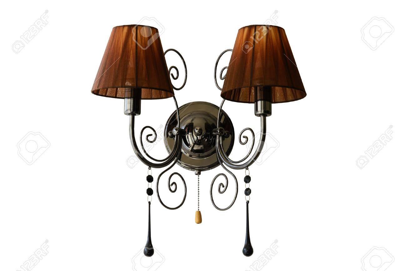 Applique Murale. Lampe Murale Vintage. Isolé, Fond Blanc. Banque Du0027images