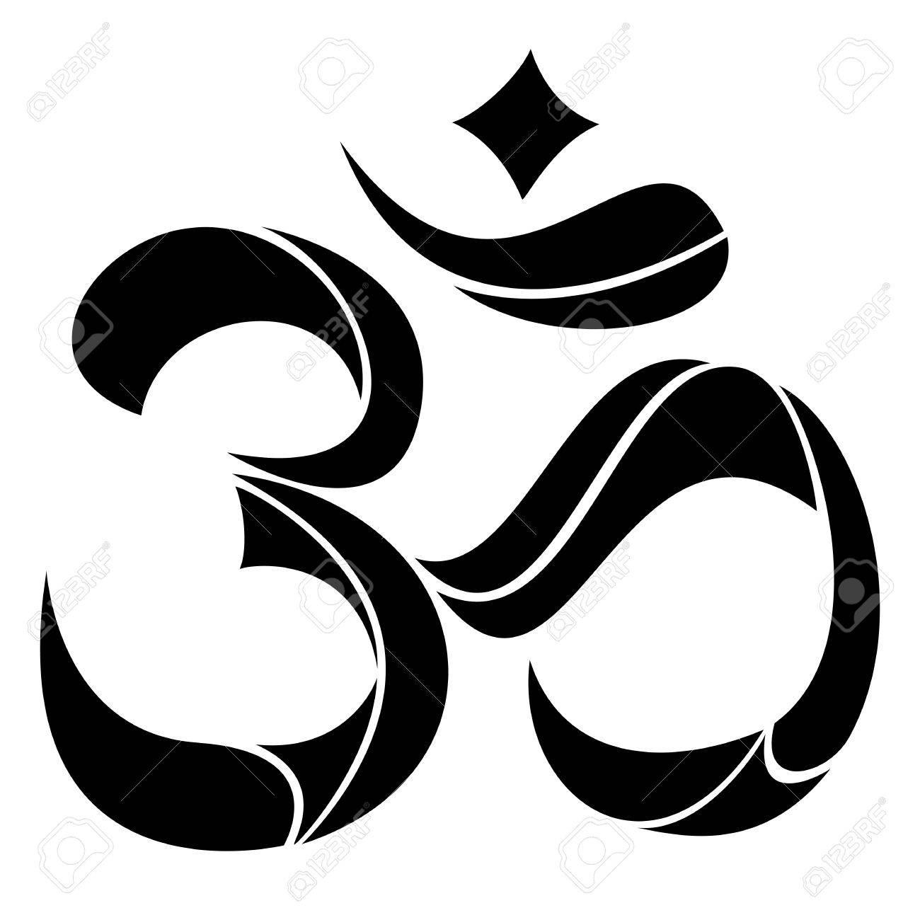 Om symbol Yoga or Pranava