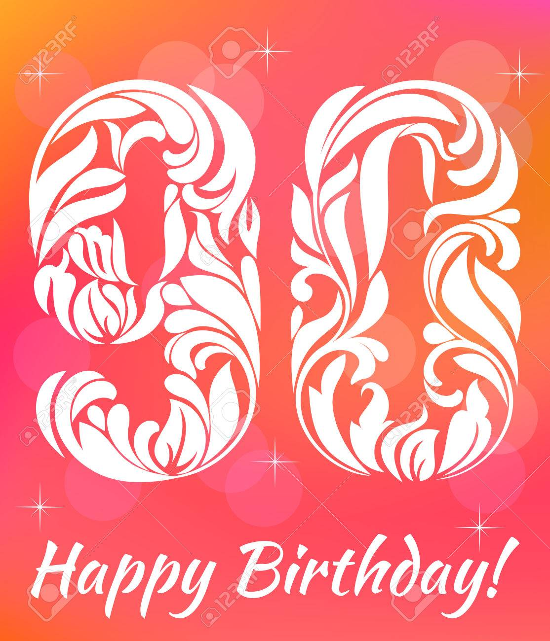 Helle Grußkarte Vorlage. Wir Feiern 90 Jahre Geburtstag