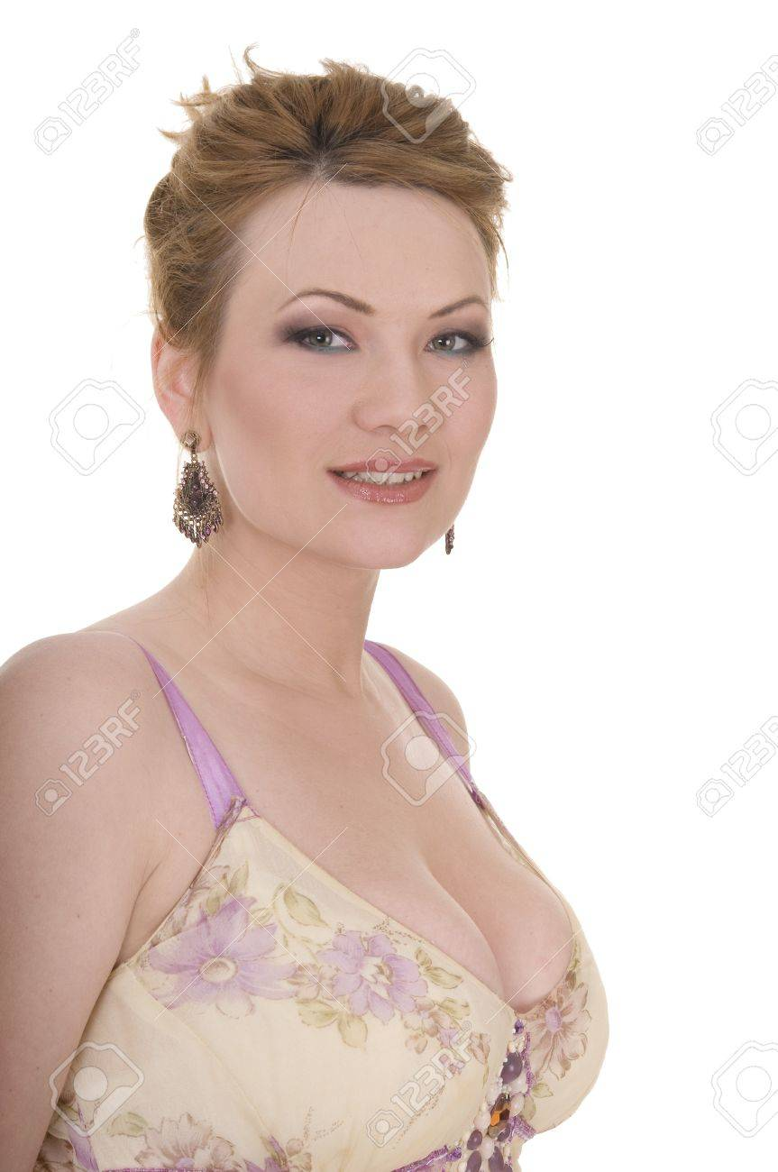 Portrait of attractive beauty mature woman with nice make-up Stock Photo - 8974462