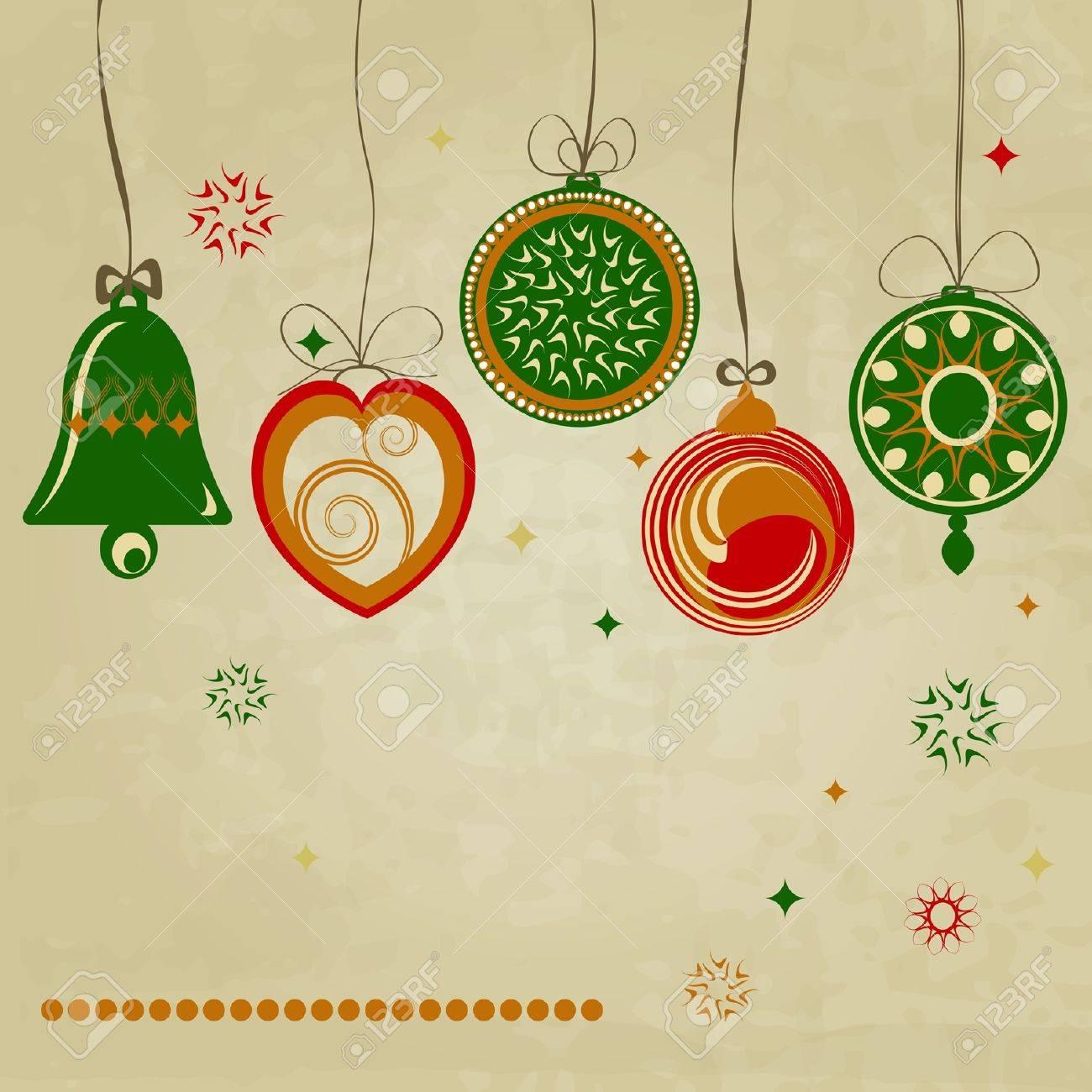 retro holiday card Stock Vector - 15969051