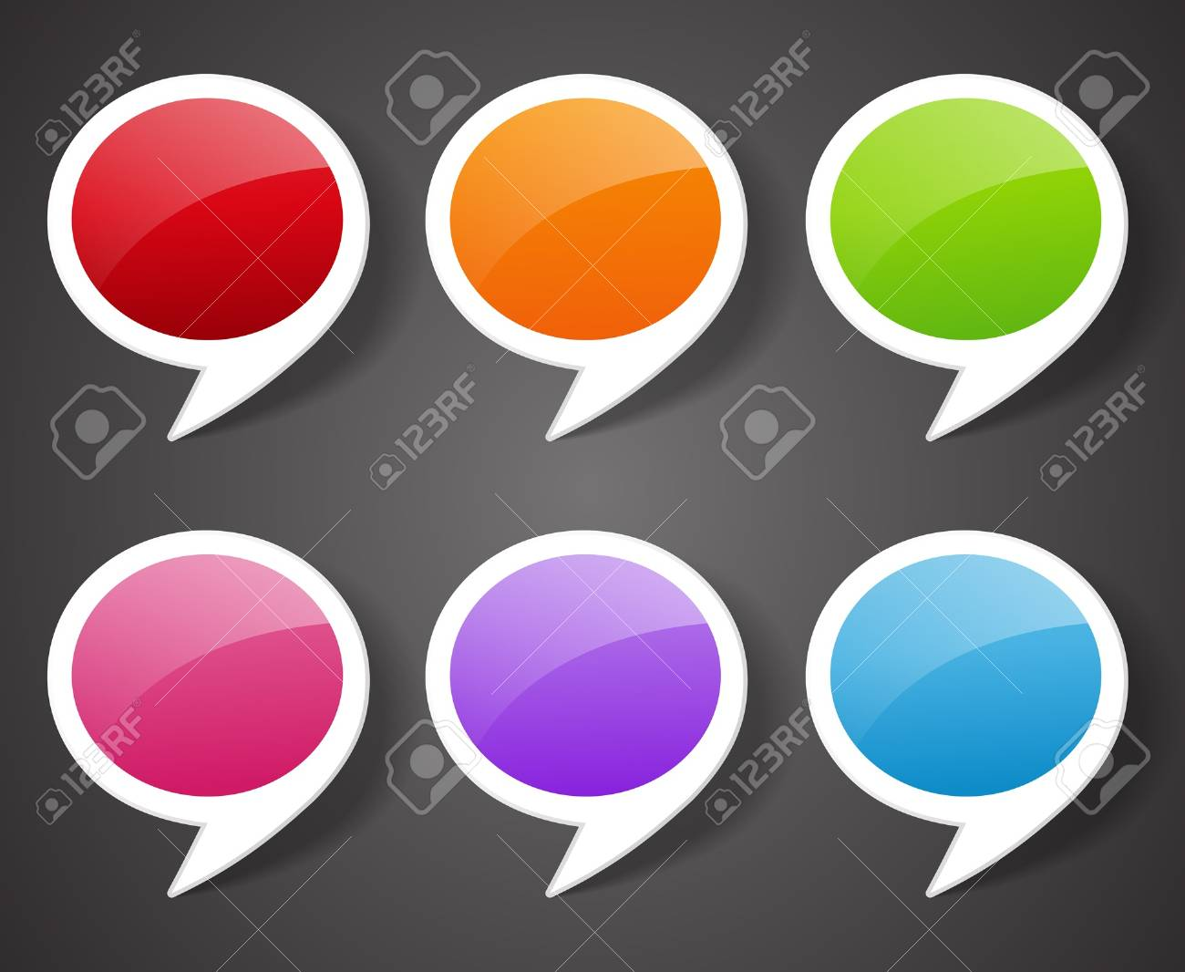 speech bubbles or sale tags Stock Vector - 17134901