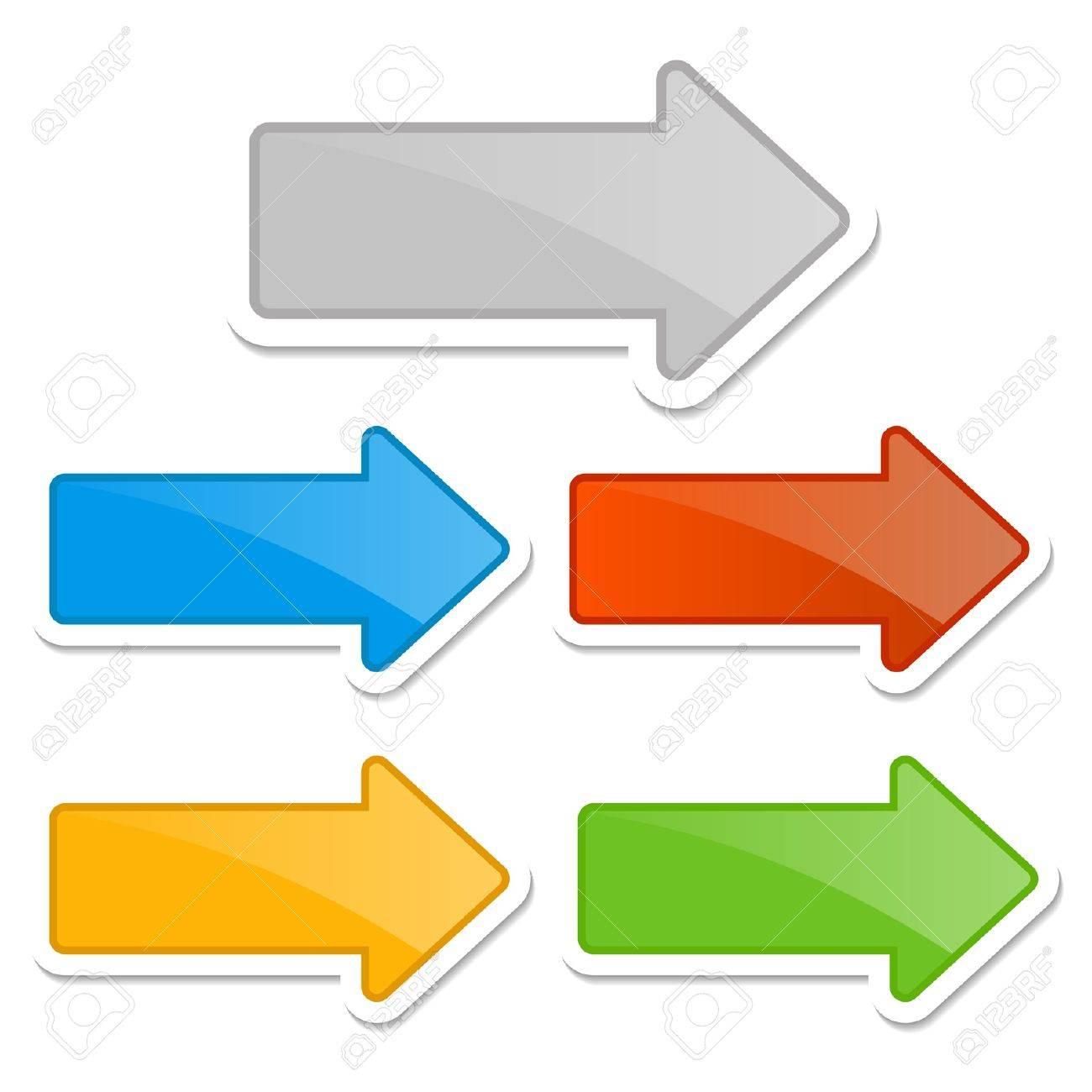 set of arrows Stock Vector - 17313956