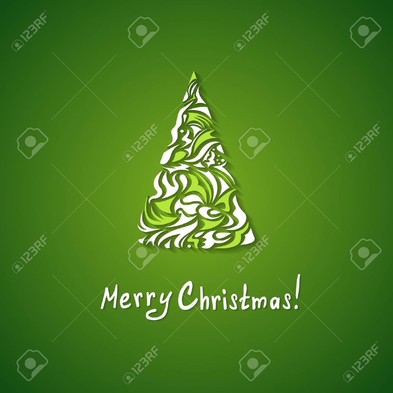 4827eec1a71 Fondo De Navidad Con Un árbol Estilizado Ilustraciones Vectoriales ...