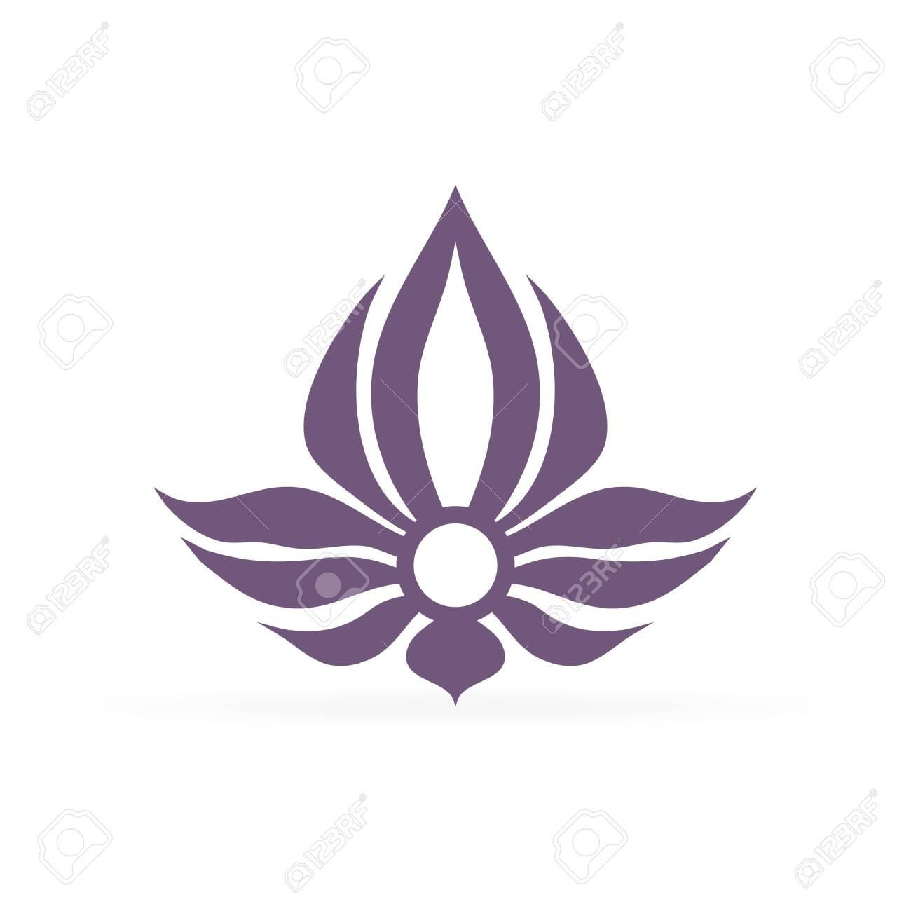 Abstract Violet Lotus Flower Yoga Symbol Or Element For Spa Royalty Free Cliparts Vectors And Stock Illustration Image 131653382