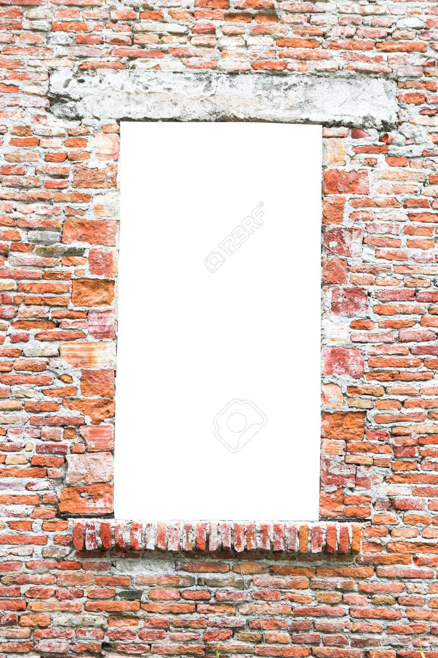 Old Window Of An Abandoned House Closed With Bricks Suitable.. Stock ...