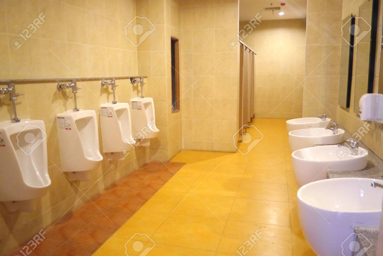 Male Washroom Interior Design Stock Photo, Picture And Royalty ...