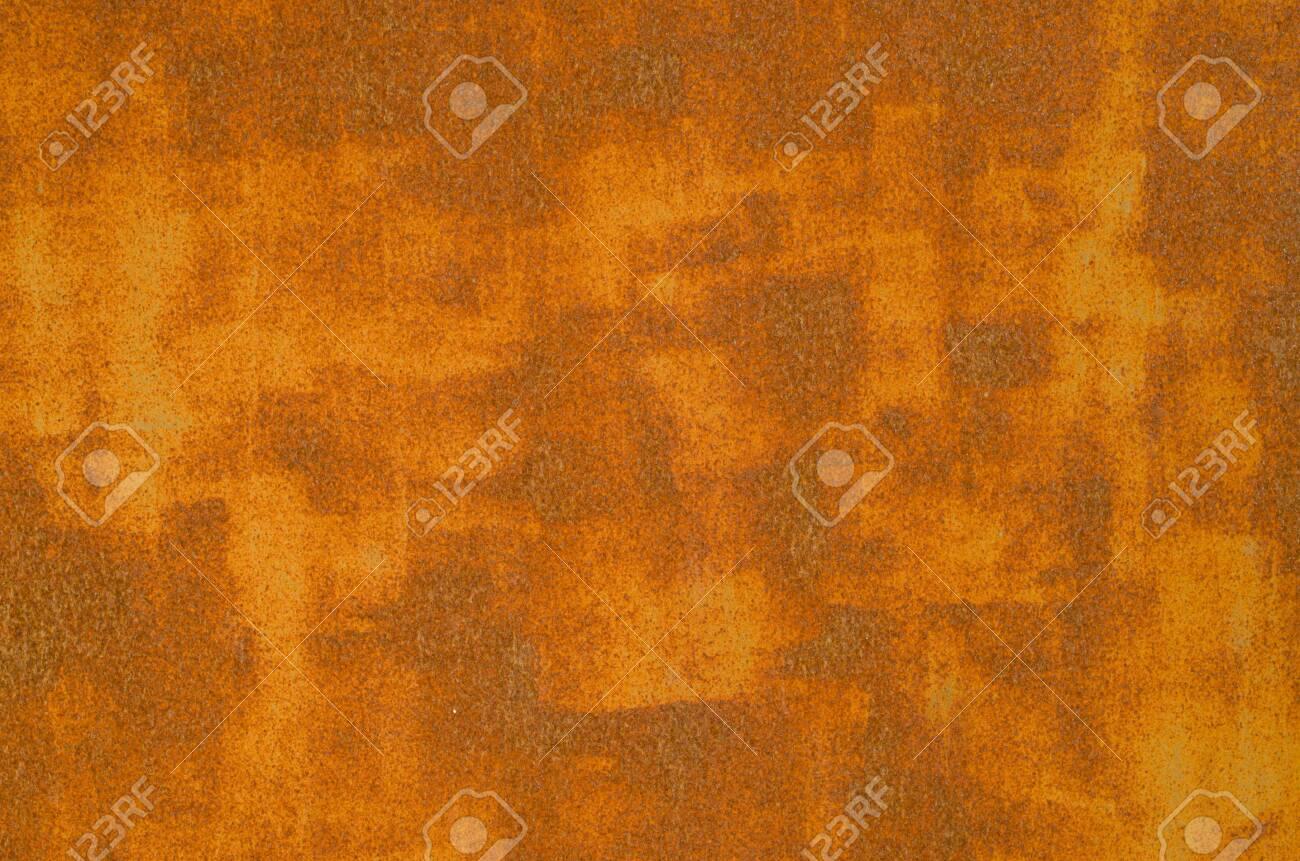 Old rusty metal door close up - 143885774
