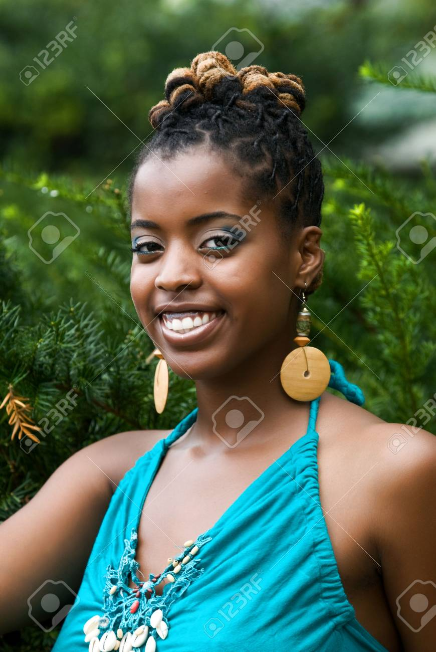 African American woman smiles Stock Photo - 5589489
