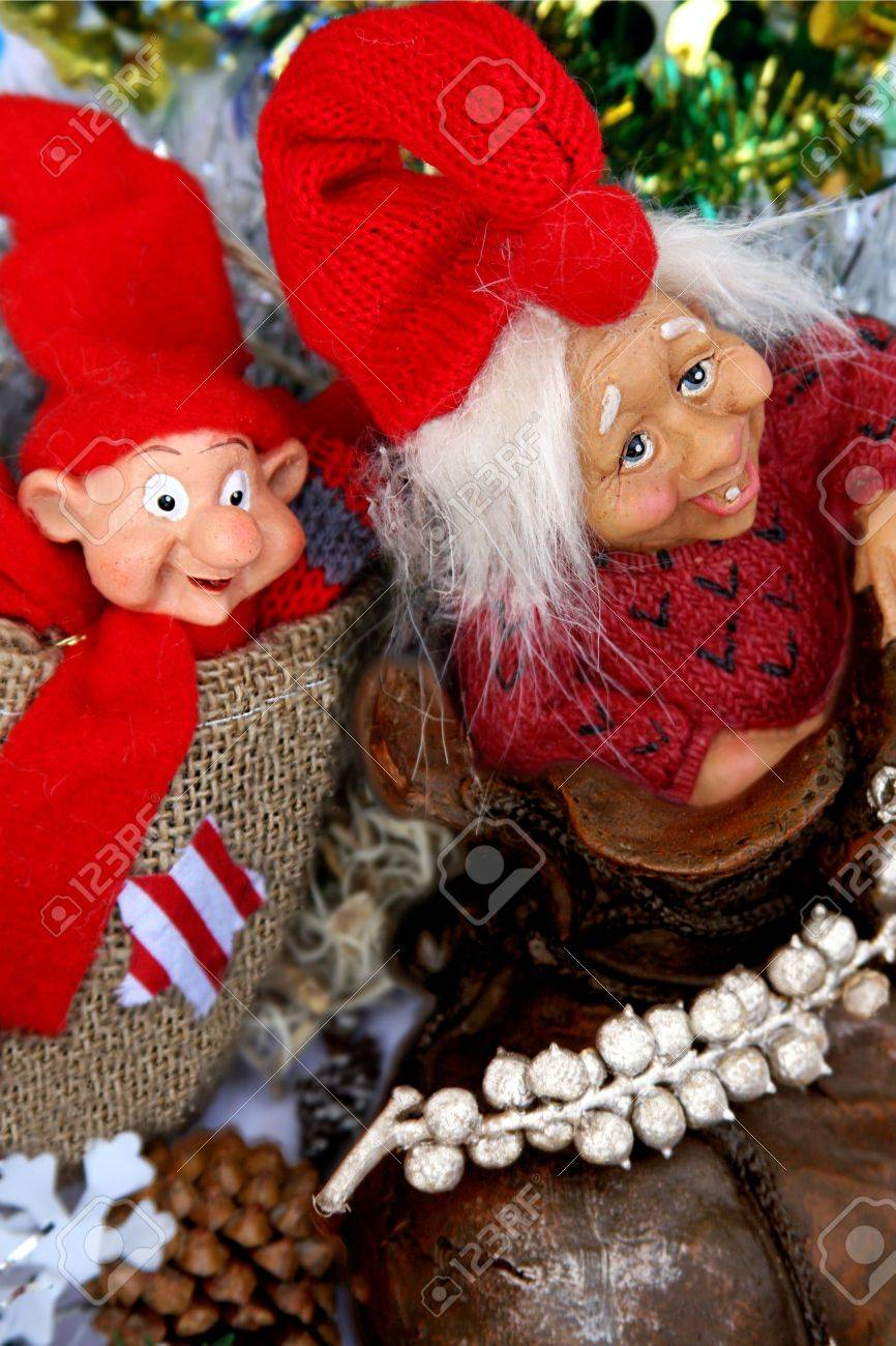 Norwegian Christmas Trolls Stock Photo, Picture And Royalty Free ...