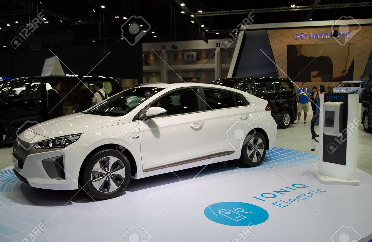 Bangkok Thailand December 11 2017 Hyundai Ioniq Electric