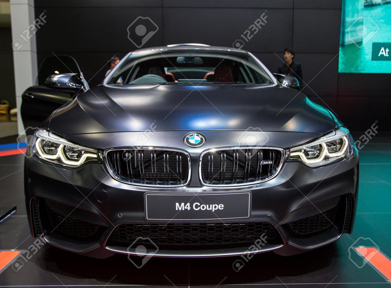 Matte Black BMW >> Bangkok Thailand December 11 2017 Bmw M4 Mpower Matte Black