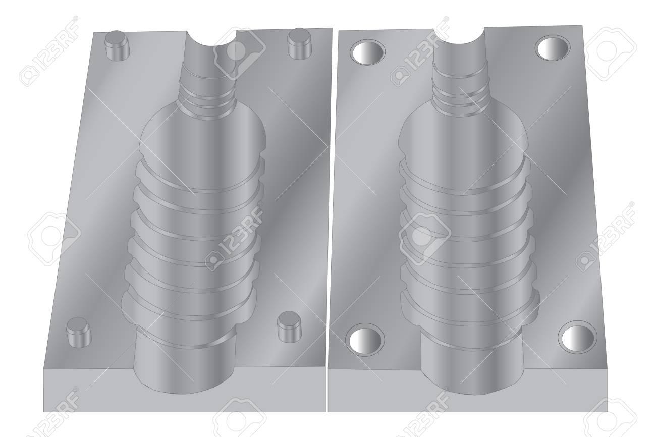 Plastic PET jar bottle mould isolated on white - 109887306