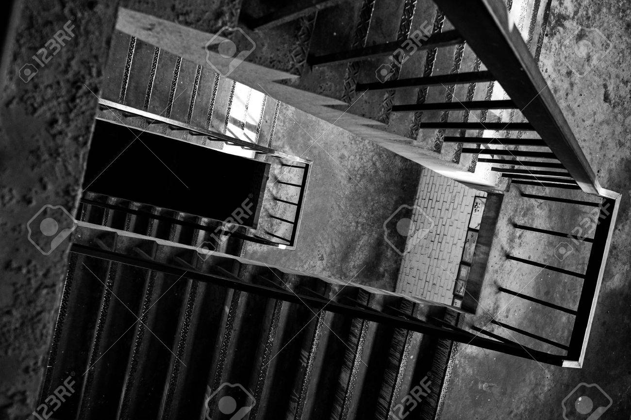 Stairs To The Top Floor Of An Old Factory The Atmosphere Looks