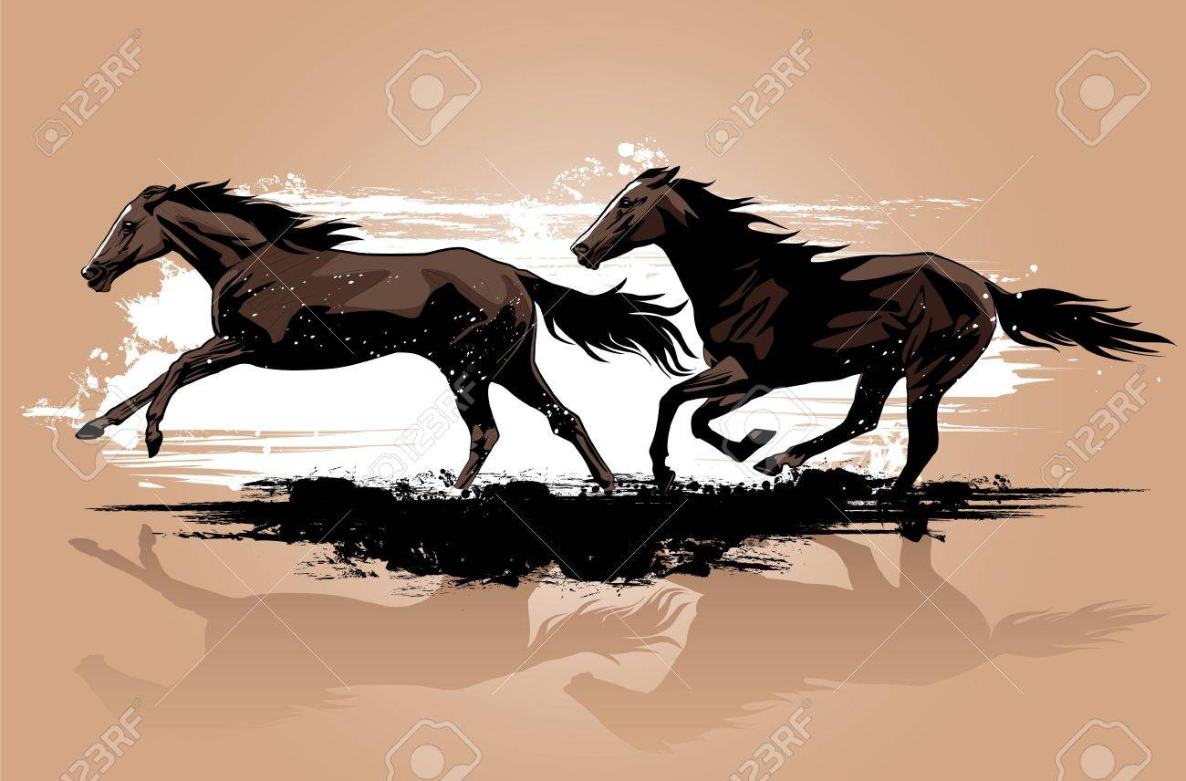 Wild Horses Running Stock Photo Picture And Royalty Free Image Image 7483705