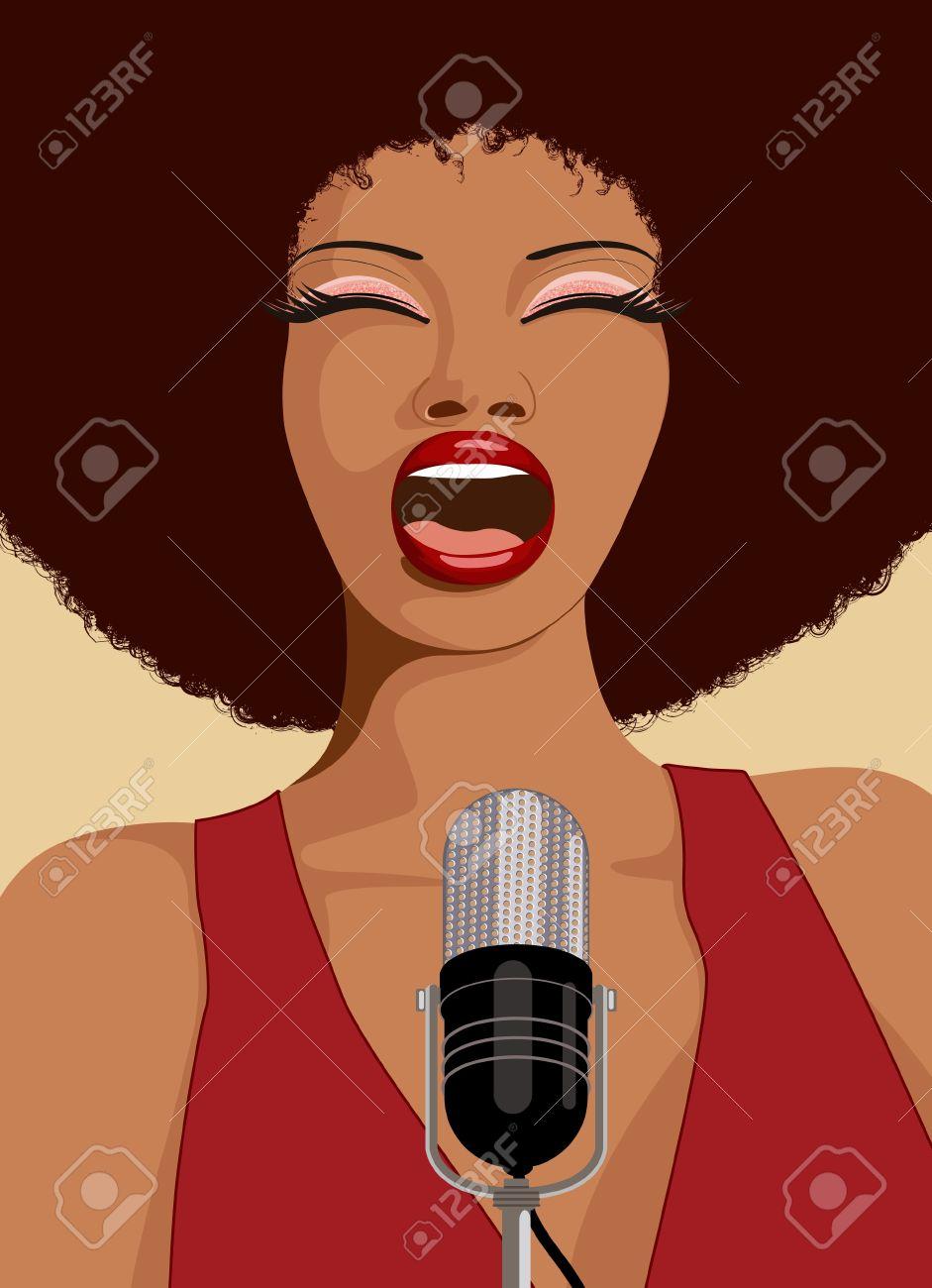 an afro american jazz singer Stock Photo - 7483674