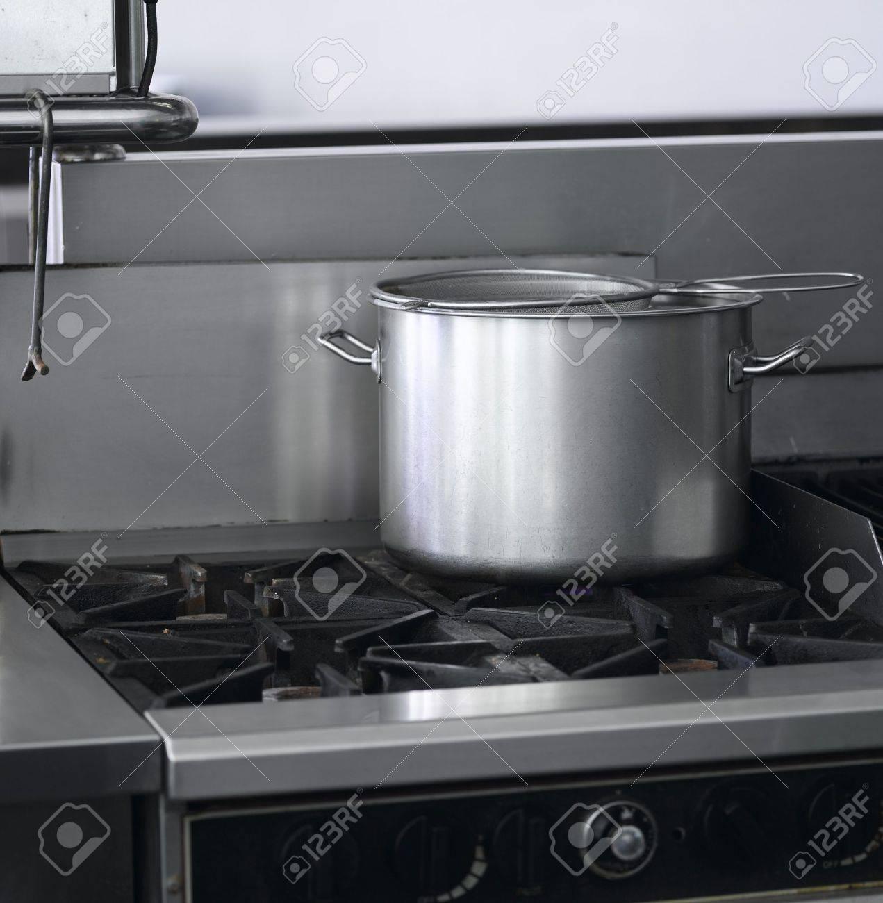 Industrial Cooking Restaurant Kitchen Equipment Stock Photo, Picture ...
