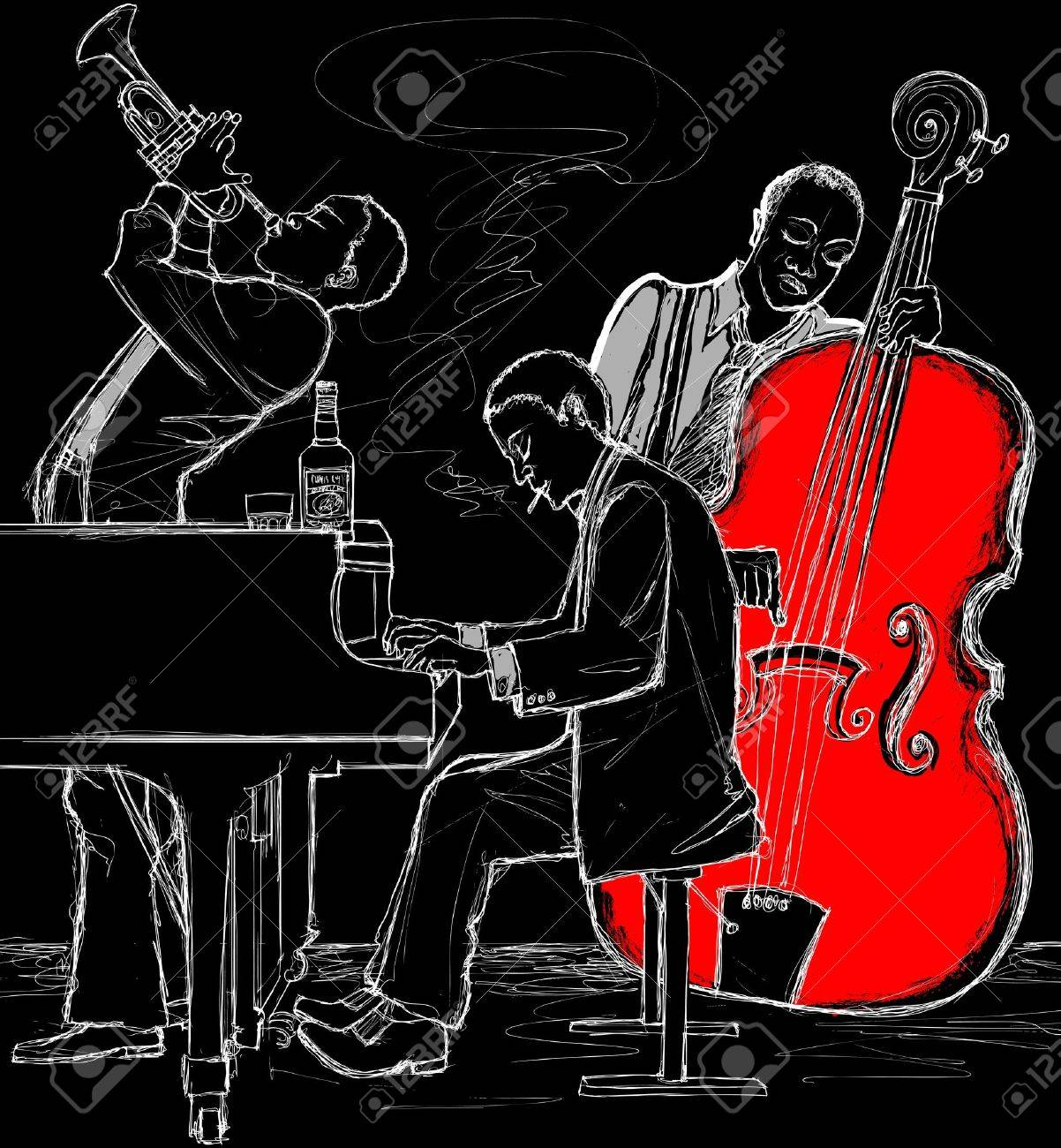 Vector illustration of a Jazz band Stock Vector - 11256944