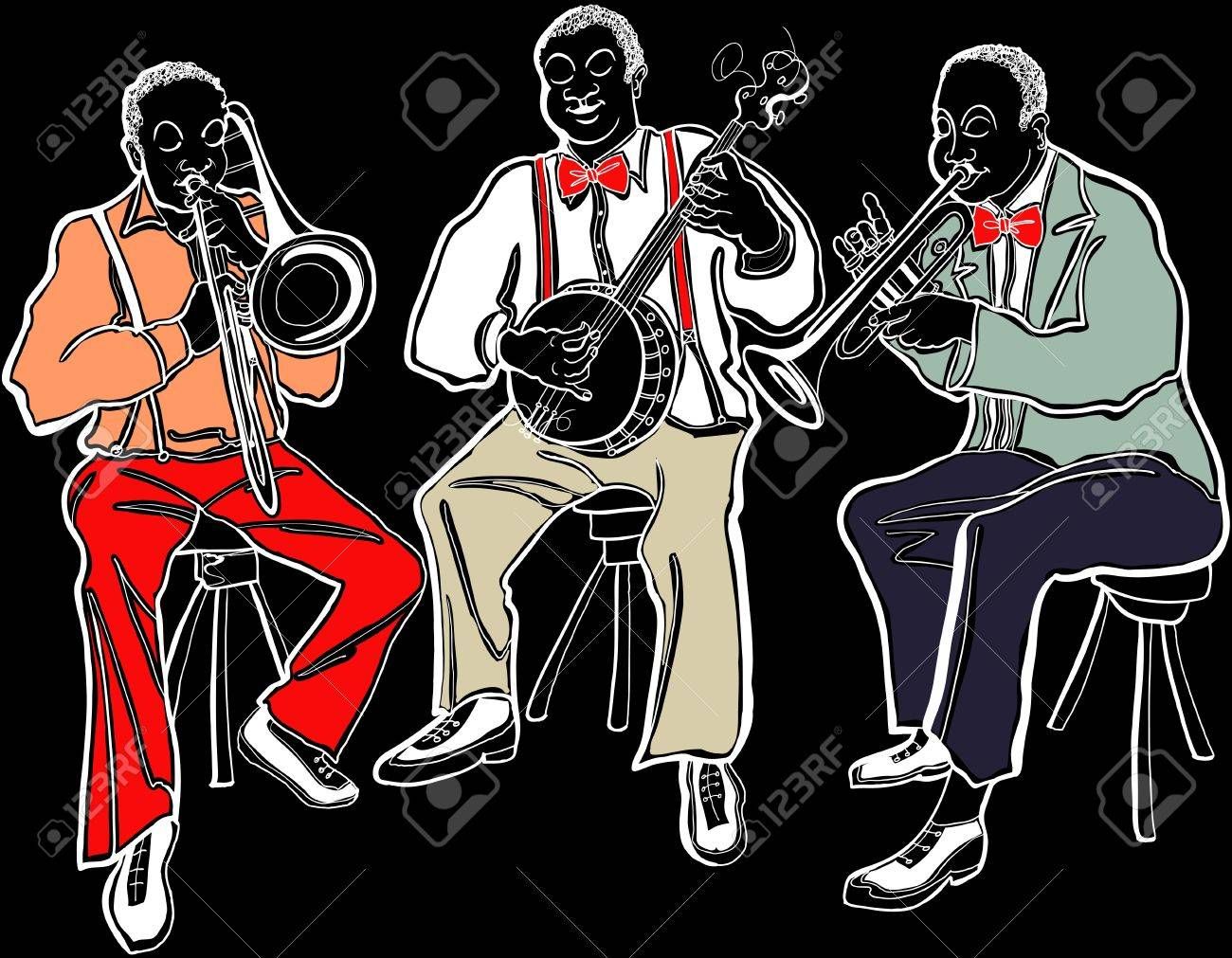 Illustration of a Jazz band Stock Vector - 14169938