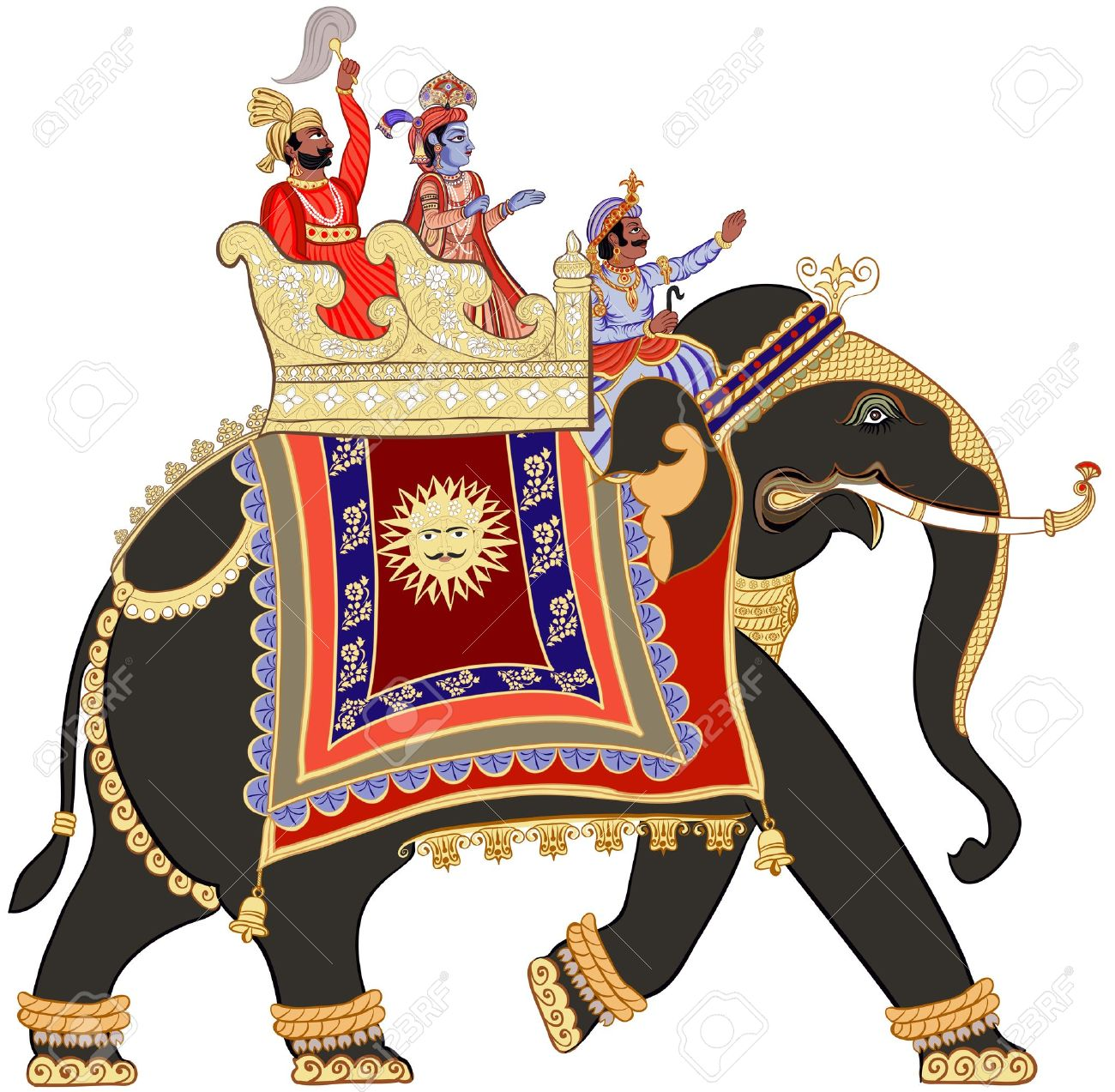 illustration of a decorated indian elephant Stock Vector - 15266214