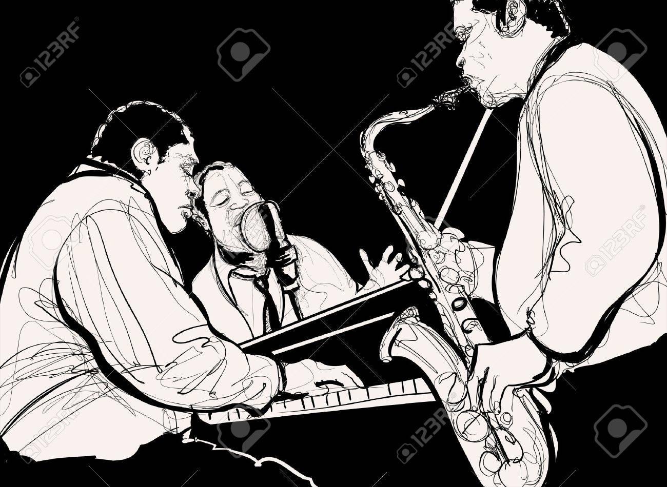 ジャズ バンドのイラスト の写真素材画像素材 Image 20451366