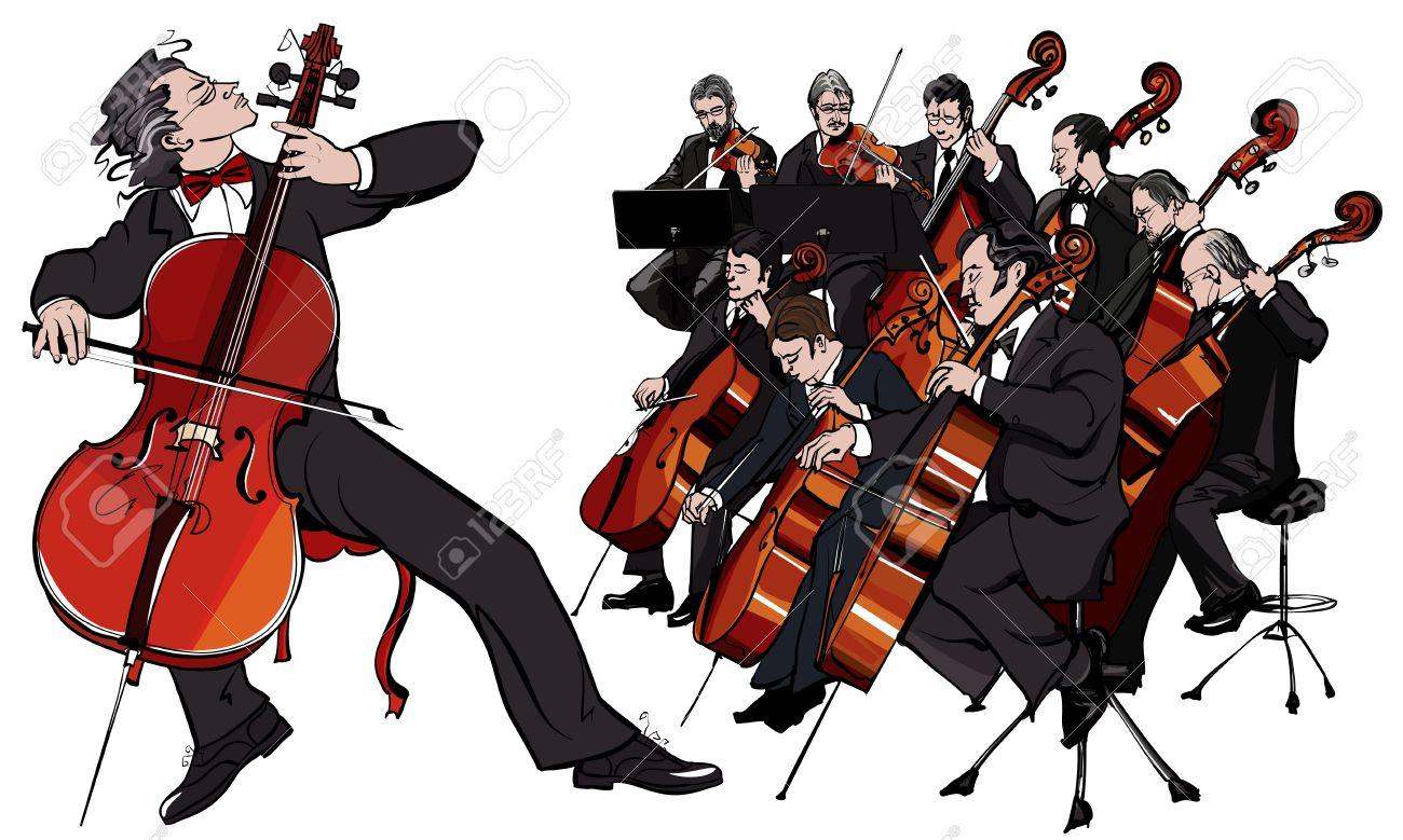 古典的なオーケストラのベクトル イラストのイラスト素材ベクタ