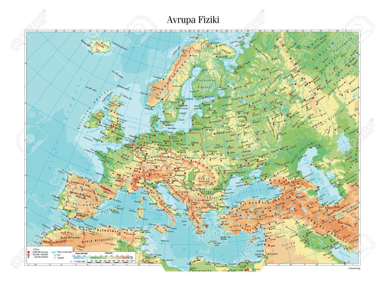 Physical Map Of Europe Royalty Free Cliparts, Vectors, And Stock ...