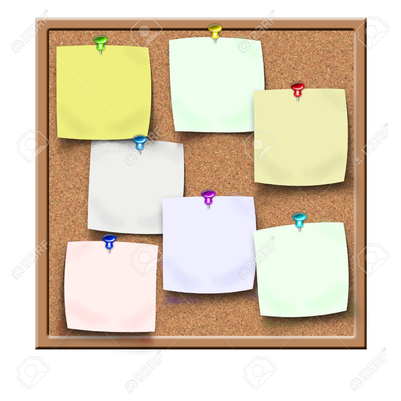 cork board with sticker reminders Stock Photo - 9037153