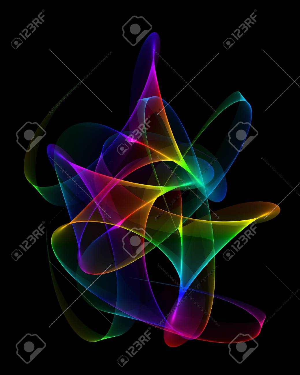abstract wavy design on a black background Stock Photo - 9156316