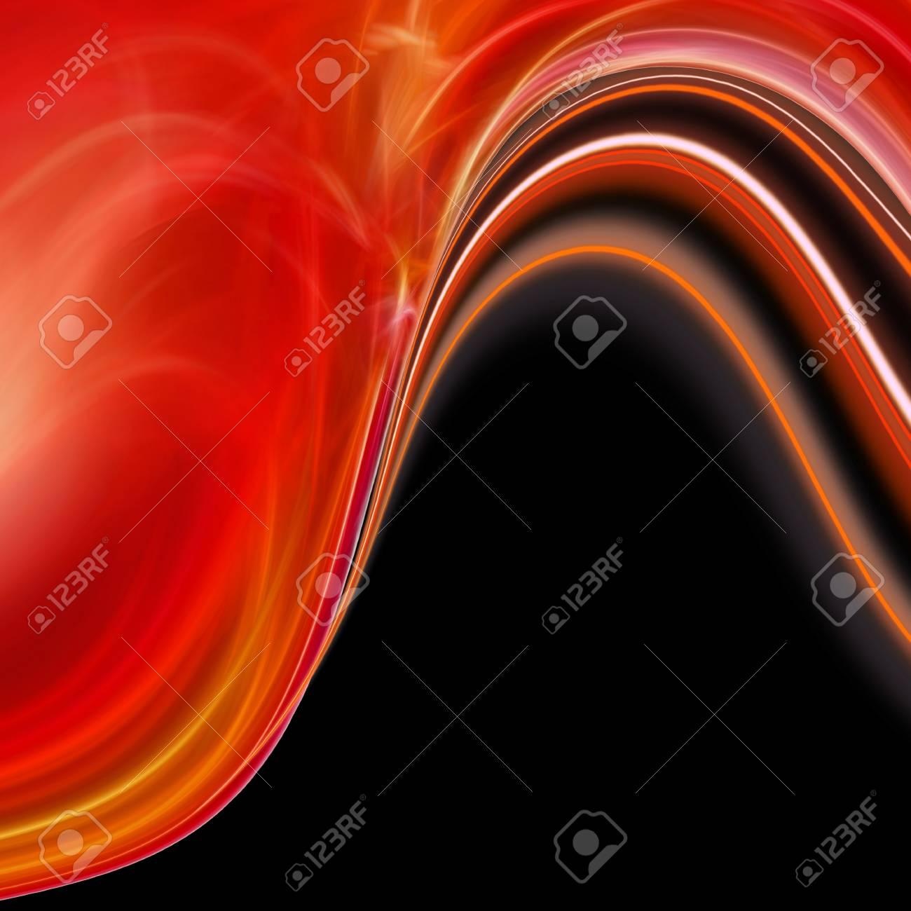 abstract red wave backdrop Stock Photo - 9198111