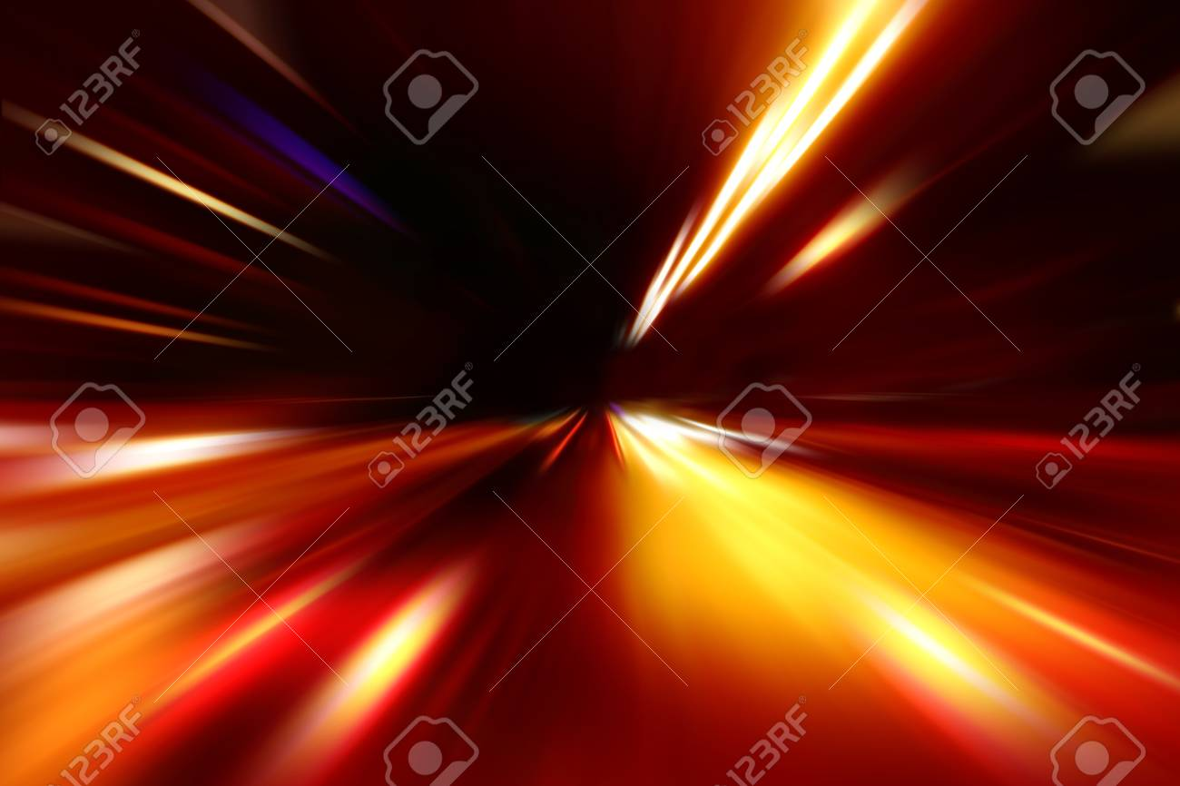 abstract acceleration speed motion on night road Stock Photo - 9379920