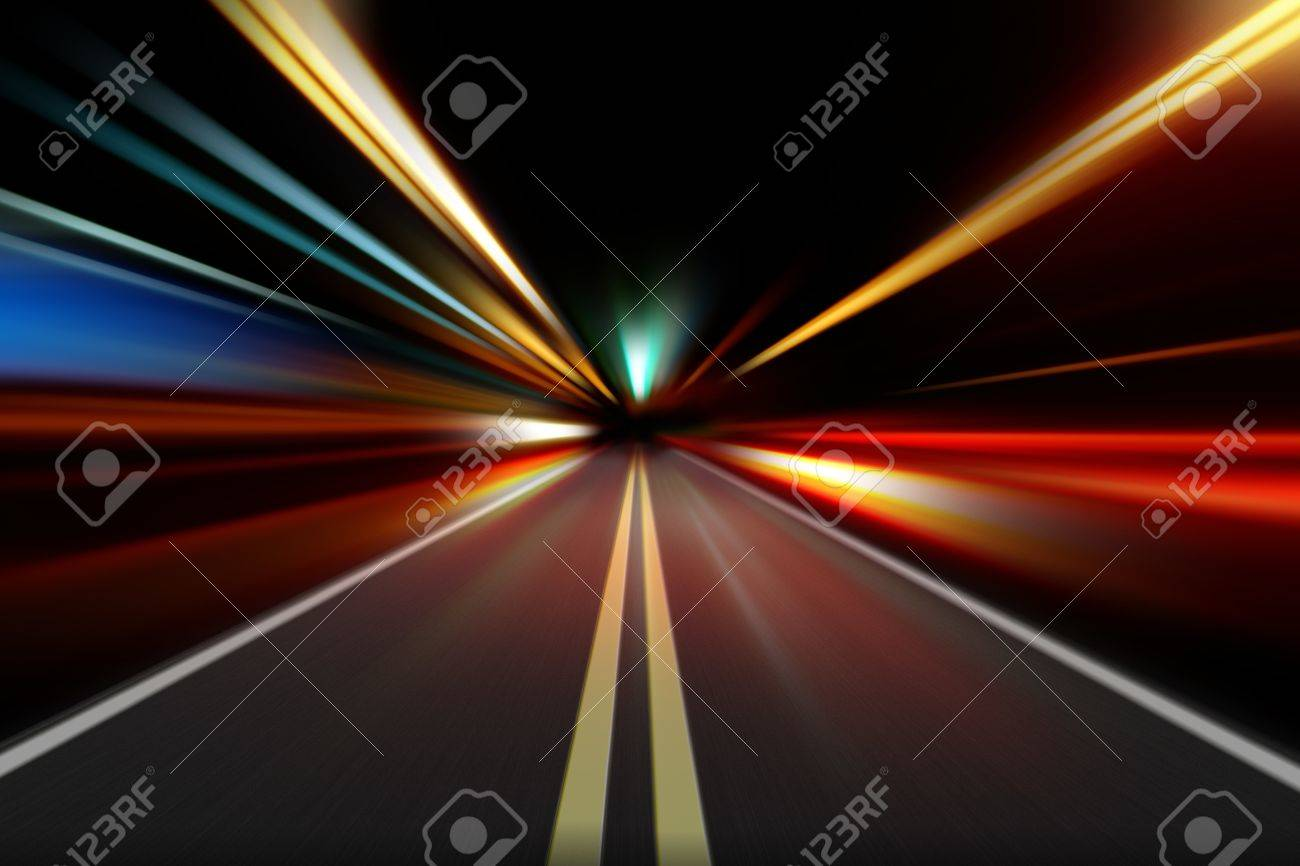 abstract night acceleration speed motion - 9483708