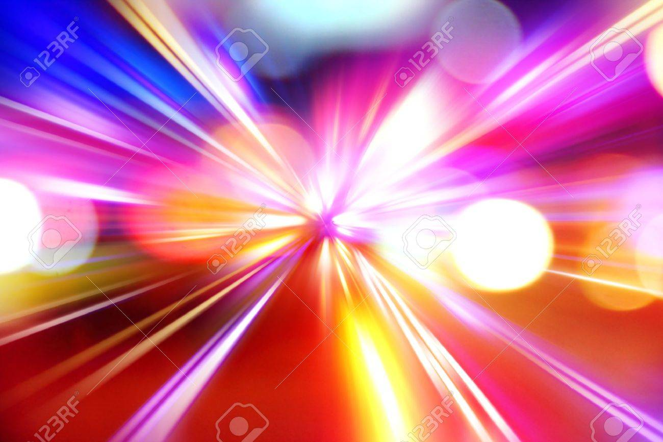 abstract acceleration speed motion on night road Stock Photo - 9609117