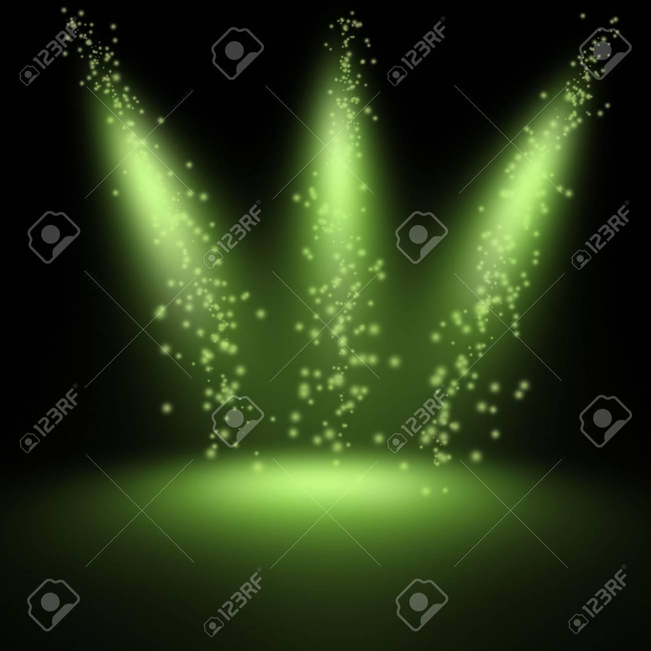 scene illuminated by a spotlight - 9745322