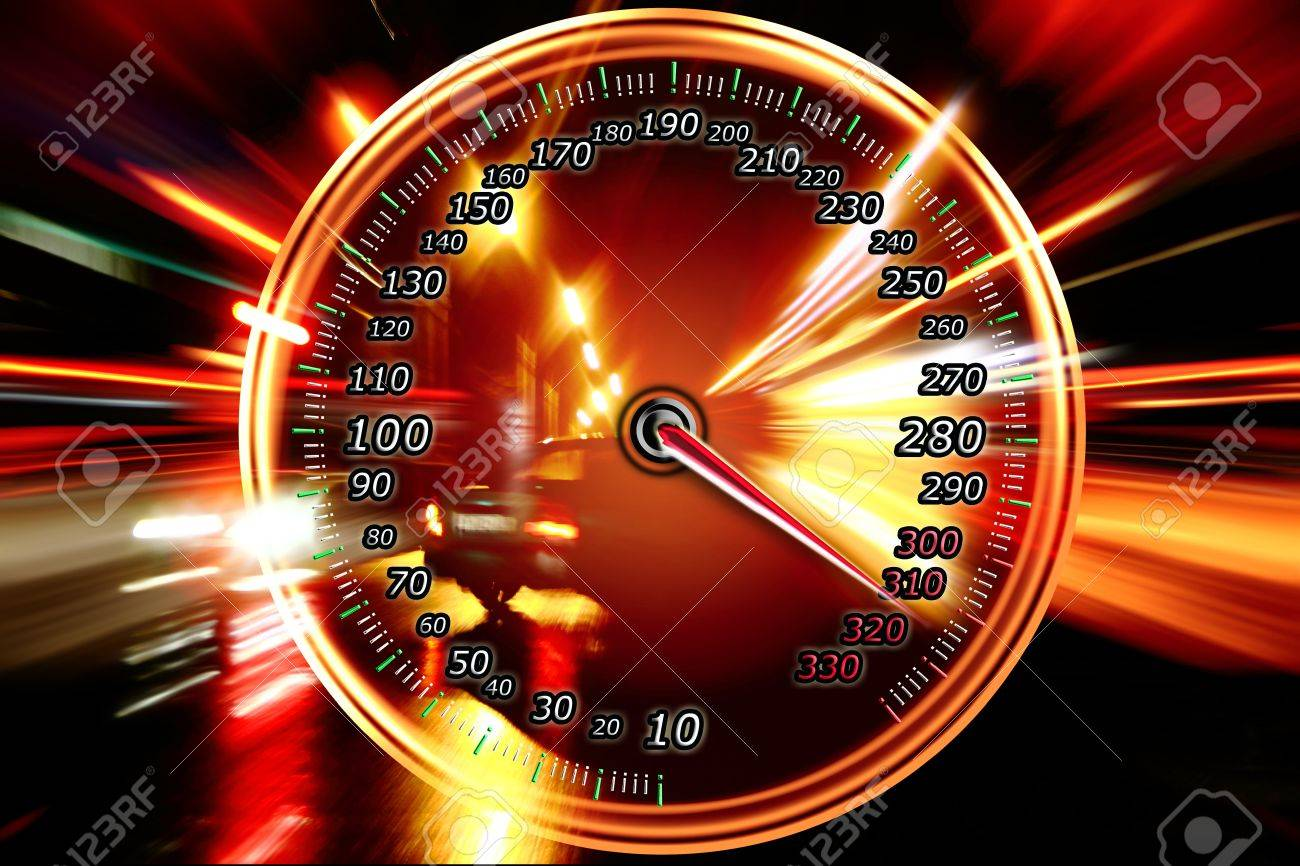 zoom acceleration motion and speedometer Stock Photo - 10136371
