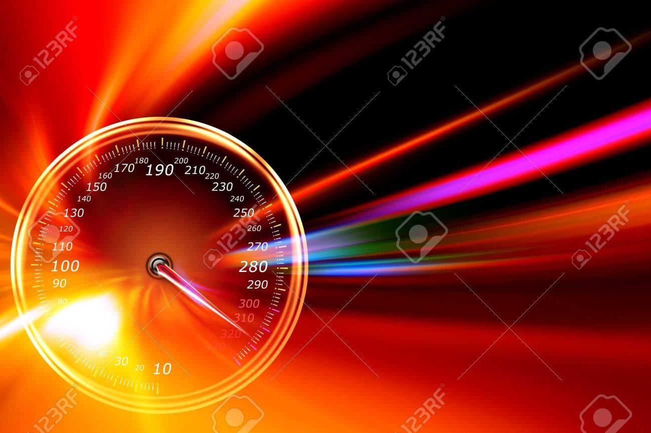 speedometer on night road - 11541959
