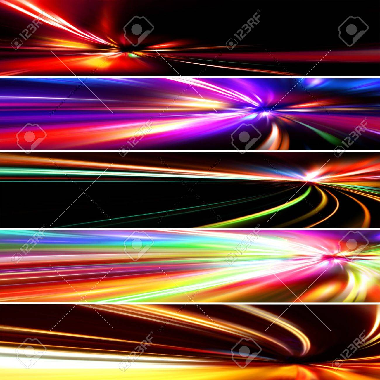 set colorful banners Stock Photo - 11896318