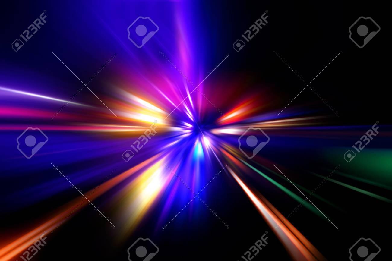 speed motion on night road - 11896328