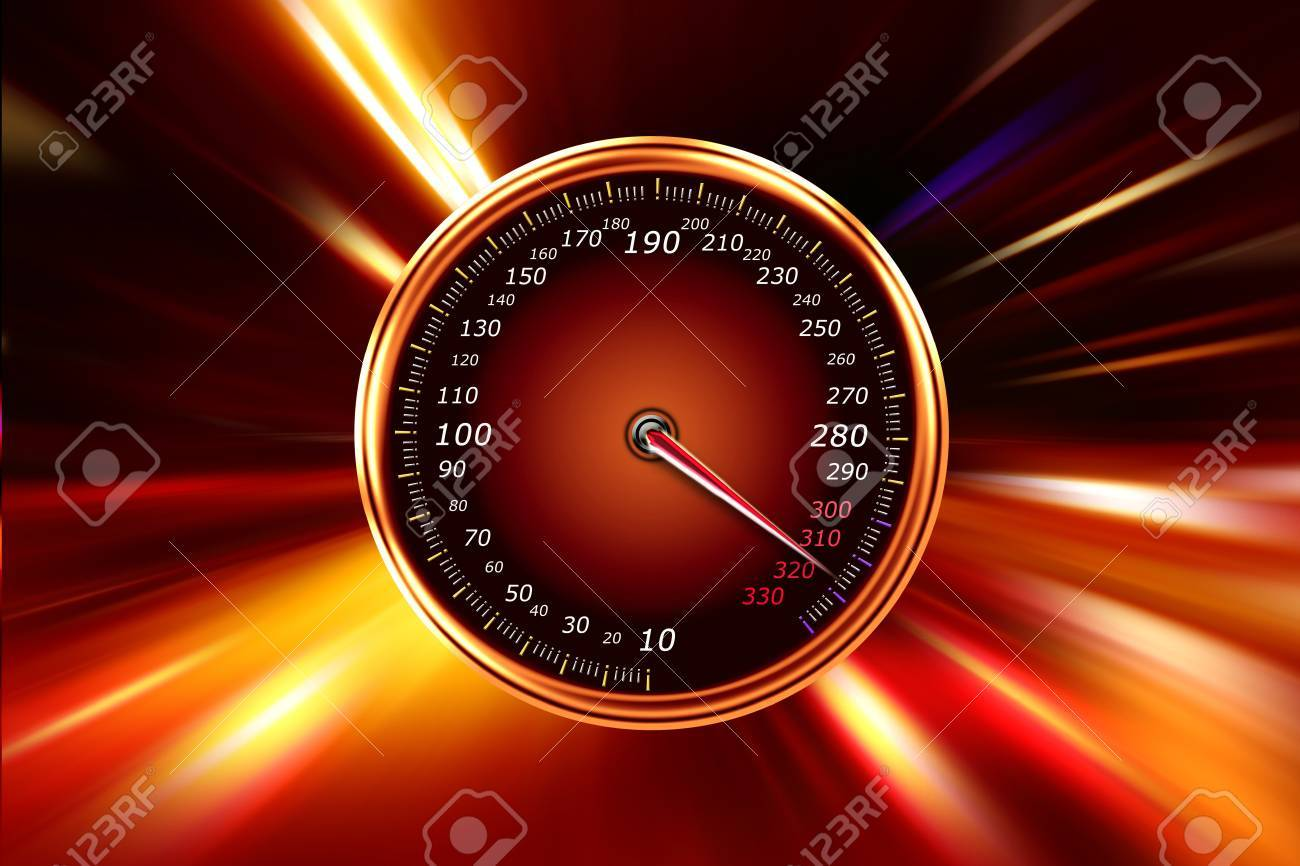 acceleration speedometer on night road Stock Photo - 11896340